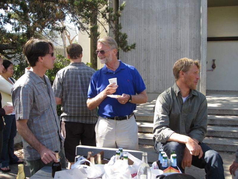 Saying goodbye to EBE at UC San Diego and to Holger, June 2009
